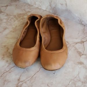 Tory burch  ballerina flats  brown 6.5